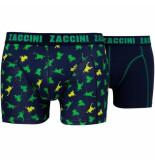 Zaccini 2-pack boxershorts kikkers blue combi