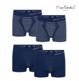 Pierre Cardin 4-pack boxershorts flatpack - blauw