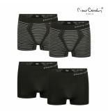 Pierre Cardin 4-pack boxershorts flatpack - zwart