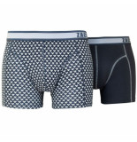 Zaccini 2-pack boxershorts triangle dark grey combi