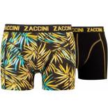 Zaccini 2-pack boxershorts trendy design zwart