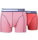 Zaccini 2-pack boxershorts trendy design uni koraal