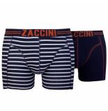 Zaccini 2-pack boxershorts uni gestreept -