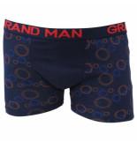 Grand Man boxershort donker met cirkel motief