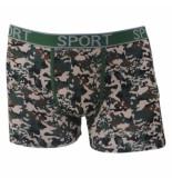 Uomo heren boxershort camouflage bruin/groen