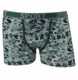 Uomo heren boxershort camouflage - groen