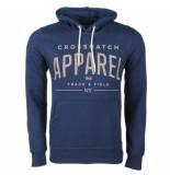 Crosshatch hoodie sweat model flatleys navy