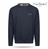 Pierre Cardin heren sweater ronde hals navy