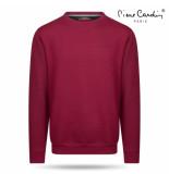 Pierre Cardin heren sweater ronde hals bordeaux rood