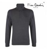 Pierre Cardin heren sweater met rits donker