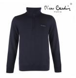 Pierre Cardin heren sweater met rits navy