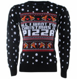 New Republic Unisex kersttrui all i want for christmas is pizza -