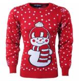 New Republic heren kersttrui fijn gebreid ronde hals sneeuwpop -