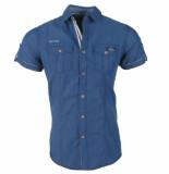Deeluxe heren korte mouw overhemd islando -