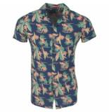 Deeluxe heren korte mouw overhemd bogolan tropical -