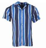 MZ72 heren korte mouw overhemd chopup gestreept -