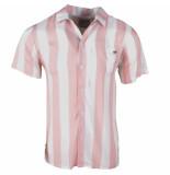 MZ72 heren korte mouw overhemd chew gestreept -