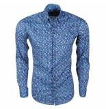 Ferlucci Heren overhemd met mini uilen design calabria stretch -