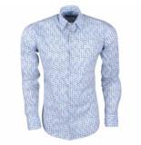 Ferlucci Heren overhemd met mini uil design calabria stretch -