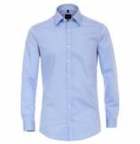 Venti heren overhemd poplin strijkvrij slimfit licht blauw
