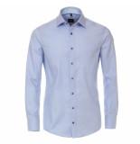 Venti heren overhemd oxford strijkvrij regular fit licht blauw