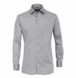 Casamoda heren overhemd strijkvrij met borstzakje regular fit - grijs