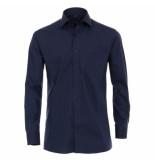 Casamoda heren overhemd strijkvrij met borstzakje regular fit - blauw