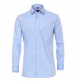 Casamoda heren overhemd strijkvrij met borstzakje regular fit licht