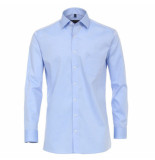 Casamoda heren overhemd strijkvrij met borstzakje regular fit licht blauw