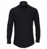 Venti heren overhemd strijkvrij slimfit stretch hyperflex - zwart