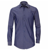 Venti heren overhemd strijkvrij slimfit stretch hyperflex navy blauw