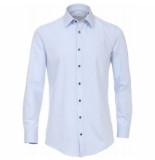 Venti heren overhemd strijkvrij slimfit stretch hyperflex licht blauw