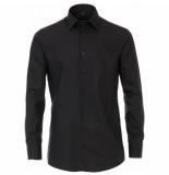 Venti heren overhemd poplin strijkvrij regular fit - zwart