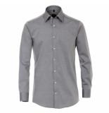 Venti heren overhemd poplin strijkvrij regular fit - grijs
