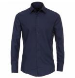 Venti heren overhemd poplin strijkvrij regular fit navy blauw