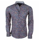 Enrico Polo heren overhemd met trendy bloemen design stretch -