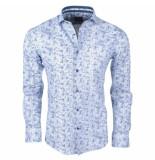 Enrico Polo heren overhemd met trendy design stretch -