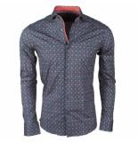 Dom Tower heren overhemd met trendy design stretch -