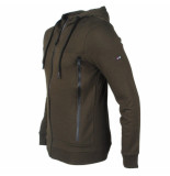 Smith and Jones sweatvest capuchon model owans - army