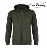 Pierre Cardin heren vest capuchon sweat - groen