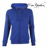 Pierre Cardin heren vest capuchon sweat - blauw