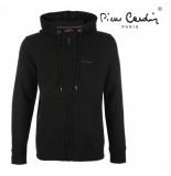 Pierre Cardin heren vest capuchon sweat - zwart