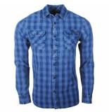 Earthbound heren overhemd met 2 borstzakjes geblokt -