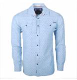 Earthbound heren overhemd met 2 borstzakjes licht met stip