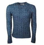 Earthbound heren trui ronde hals navy -