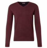 Tom Tailor heren trui v hals bordeaux