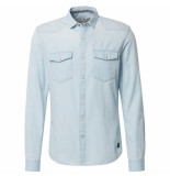Tom Tailor heren overhemd borstzakken bleached blue