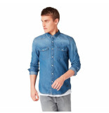 Tom Tailor heren overhemd borstzakken denim