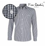 Pierre Cardin heren overhemd stretch gingham -