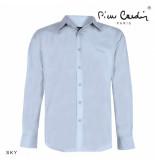 Pierre Cardin heren overhemd stretch sky blue